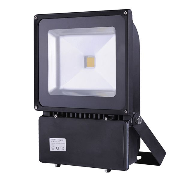 100w led fluter au enstrahler lichtfarbe warmwei 2700 3200k 99 90. Black Bedroom Furniture Sets. Home Design Ideas