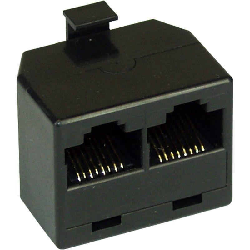 inline isdn verteiler 1x rj45 stecker an 2x rj45 buchse ohne endwi. Black Bedroom Furniture Sets. Home Design Ideas