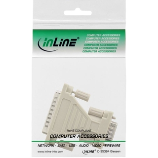 InLine® AT-Adapter, 9pol Sub D Stecker an 25pol Sub D Stecker