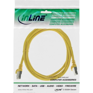 InLine® Patchkabel, SF/UTP, Cat.5e, gelb, 1m