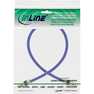 InLine® Cinch Kabel VIDEO & digital AUDIO, PREMIUM, vergoldete Stecker, 1x Cinch Stecker / Stecker, 2m