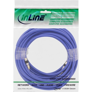 InLine® Cinch Kabel VIDEO & digital AUDIO, PREMIUM, vergoldete Stecker, 1x Cinch Stecker / Stecker, 10m