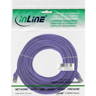 InLine® Patchkabel, SF/UTP, Cat.5e, purple, 7,5m