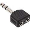 InLine® Audio Adapter, 6,3mm Klinke Stecker Stereo an 2x...