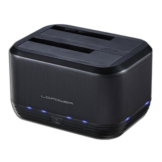 Docking station LC-Power LC-DOCK-U3-III, schwarz, USB 3.0, 2,5 & 3,5